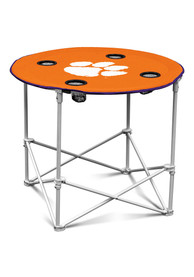 Clemson Tigers Round Tailgate Table