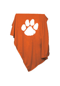 Clemson Tigers Team Logo Sweatshirt Blanket