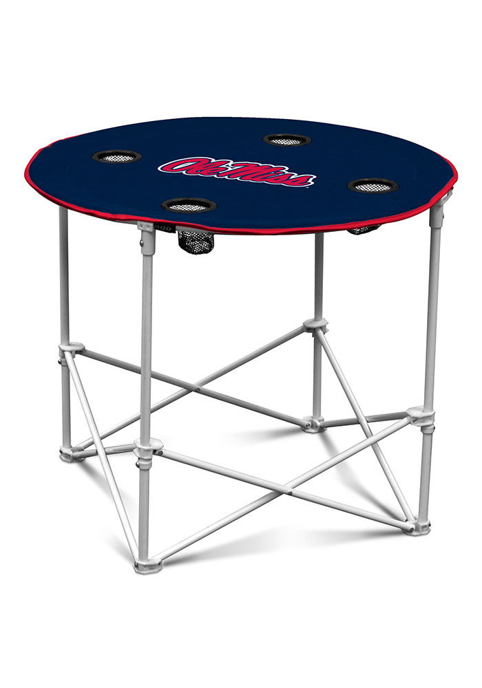 Ole Miss Rebels Round Tailgate Table - Image 1