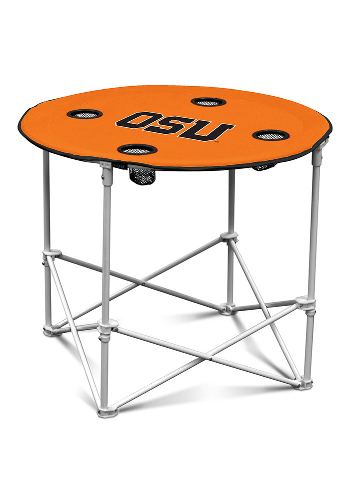 Oregon State Beavers Round Tailgate Table - Image 1