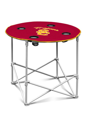 USC Trojans Round Tailgate Table