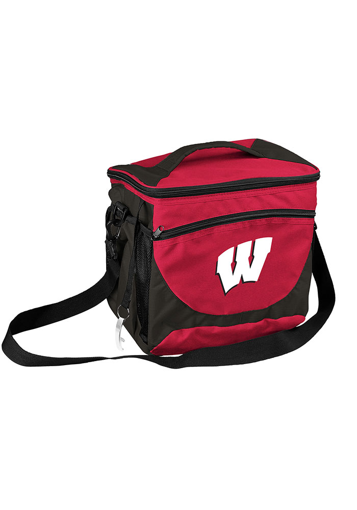 Wisconsin Badgers 24 Can Cooler - Image 1