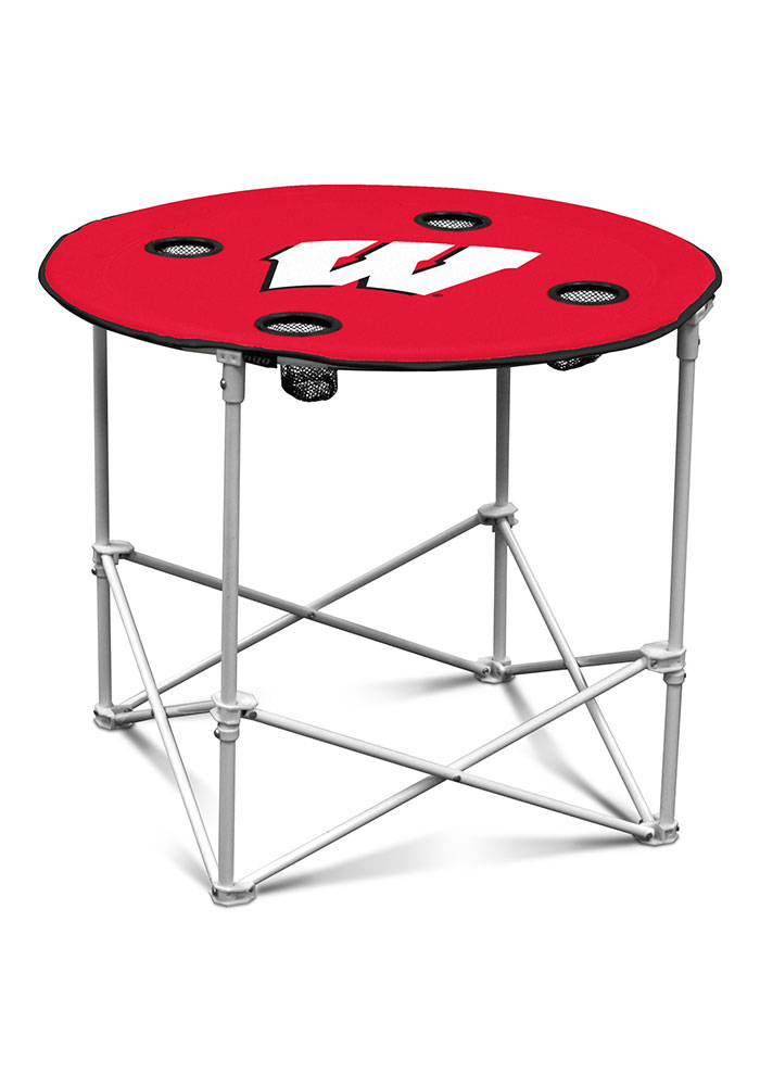 Wisconsin Badgers Round Tailgate Table - Image 1