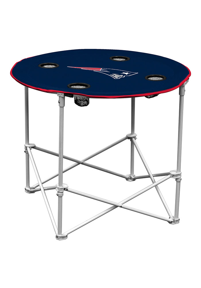 New England Patriots Round Tailgate Table - Image 1