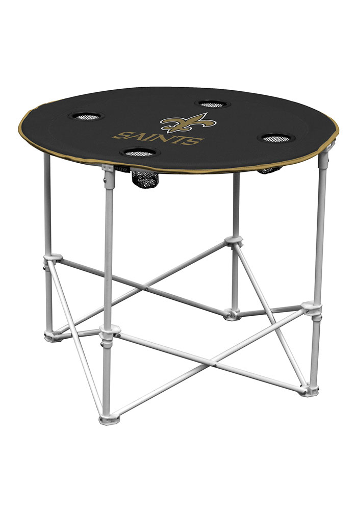 New Orleans Saints Round Tailgate Table - Image 1