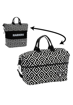 Oakland Raiders Black Expandable Lunch Tote
