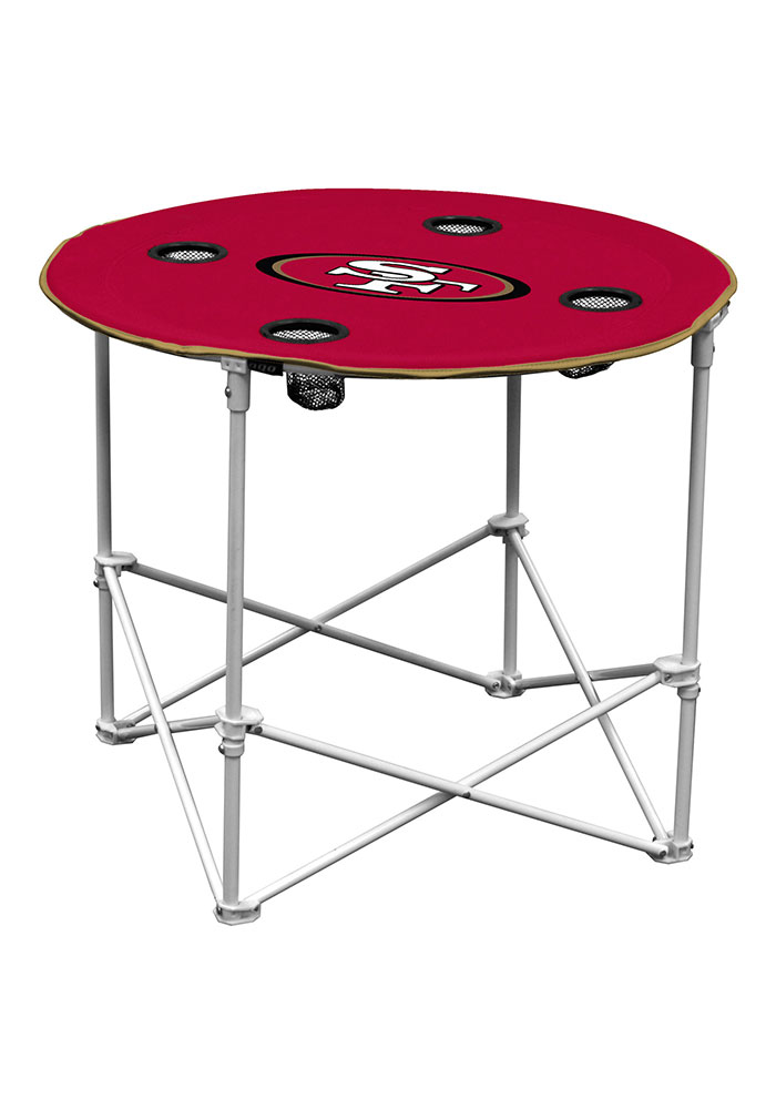 San Francisco 49ers Round Tailgate Table - Image 1