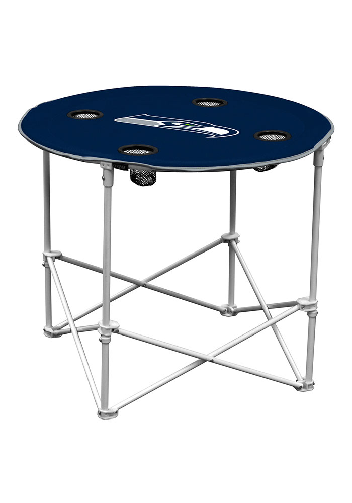 Seattle Seahawks Round Tailgate Table - Image 1