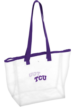 TCU Horned Frogs White Clear Clear Bag