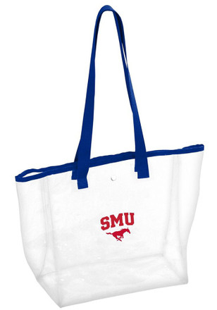 SMU Mustangs White Clear Clear Bag