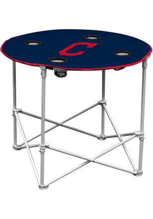 Cleveland Indians Round Tailgate Table