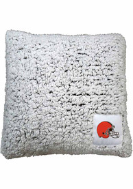 Cleveland Browns Frosty Throw Pillow