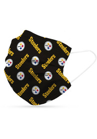 Pittsburgh Steelers 6pk Disposable Fan Mask - Black