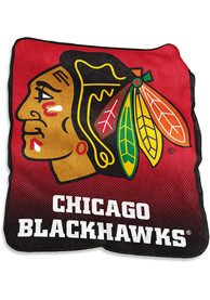Chicago Blackhawks Team Logo Raschel Blanket