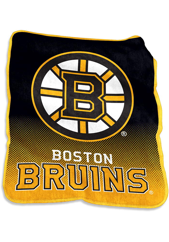 Boston Bruins Team Logo Raschel Blanket - Image 1