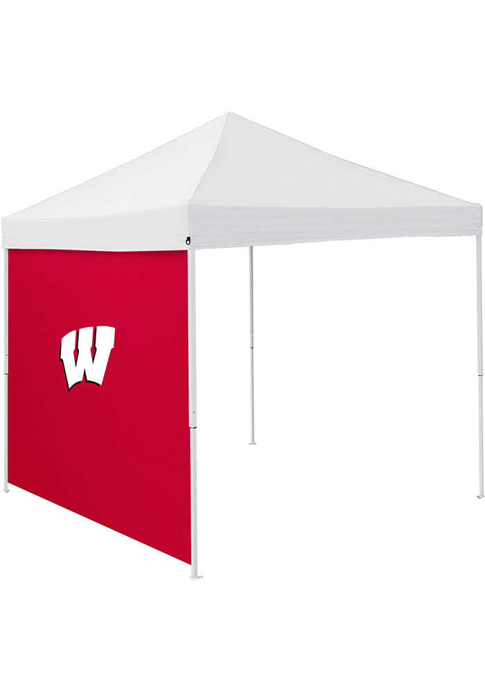 Wisconsin Badgers Red 9x9 Team Logo Tent Side Panel - Image 1