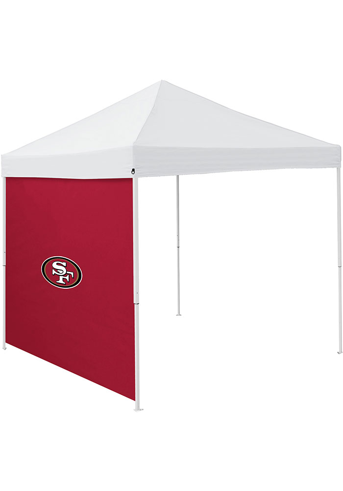 San Francisco 49ers Red 9x9 Team Logo Tent Side Panel - Image 1
