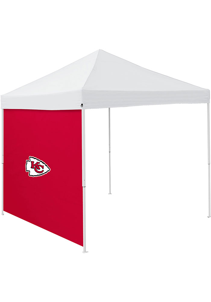 Kansas City Chiefs Red 9x9 inch Team Logo Tent Side Panel - Image 1