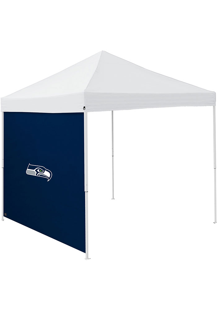 Seattle Seahawks Navy Blue 9x9 Team Logo Tent Side Panel - Image 1