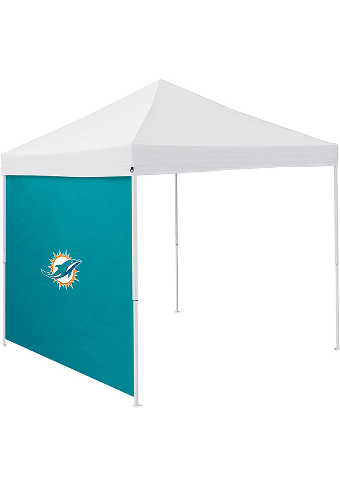 Miami Dolphins Green 9x9 Team Logo Tent Side Panel - Image 1