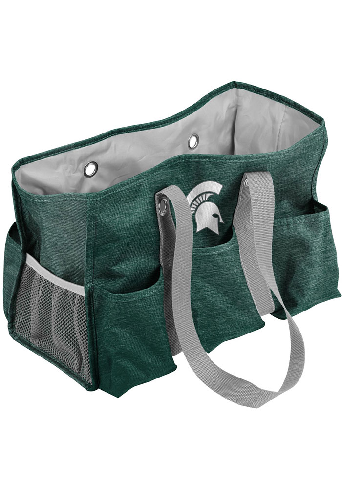 Michigan State Spartans Green Crosshatch Tote - Image 1