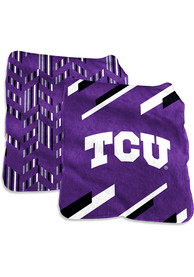 TCU Horned Frogs Super Plush Raschel Blanket