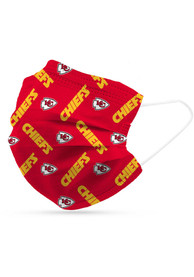 Kansas City Chiefs 6 Pack Disposable Fan Mask - Red