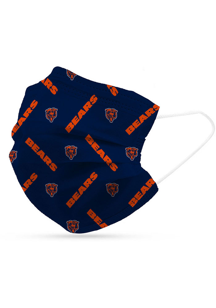 Chicago Bears 6 Pack Disposable Fan Mask - Image 1