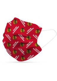 Chicago Blackhawks 6 Pack Disposable Fan Mask - Black