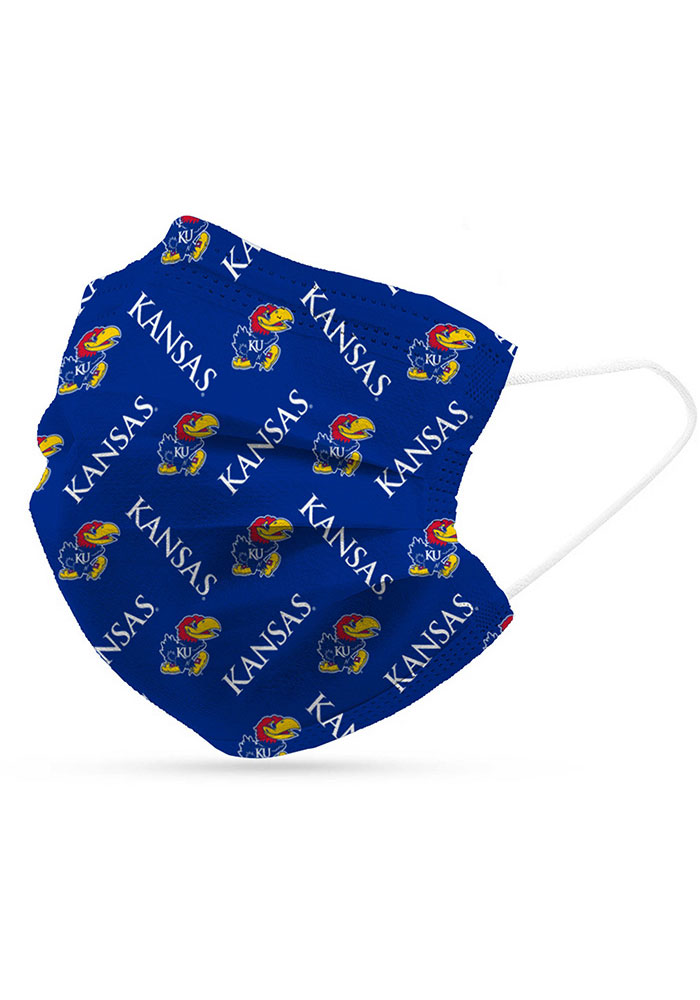 Kansas Jayhawks 6 Pack Disposable Fan Mask - Blue