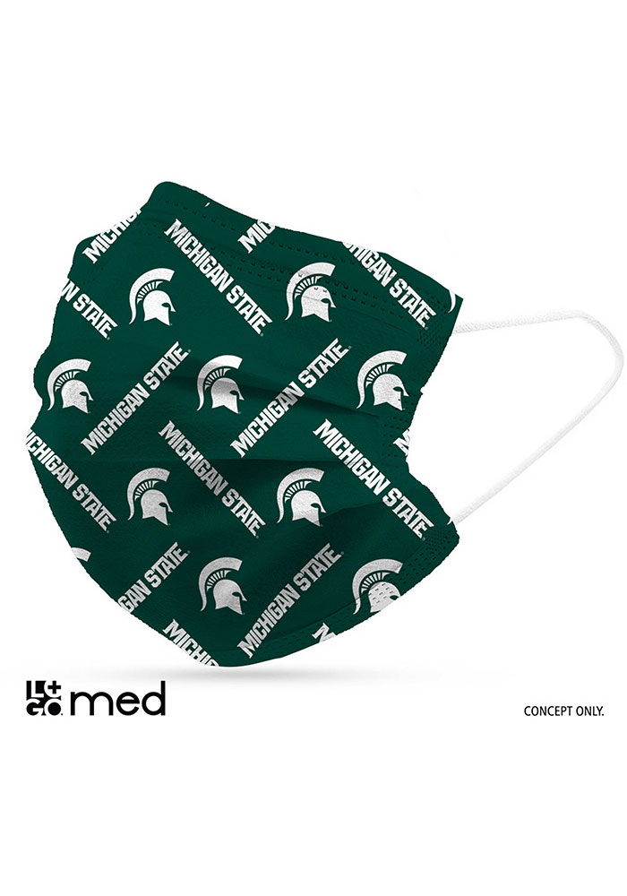 Michigan State Spartans 6 Pack Disposable Fan Mask - Green