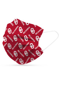 Oklahoma Sooners 6 Pack Disposable Fan Mask - Red