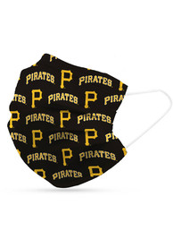 Pittsburgh Pirates 6 Pack Disposable Fan Mask - Black