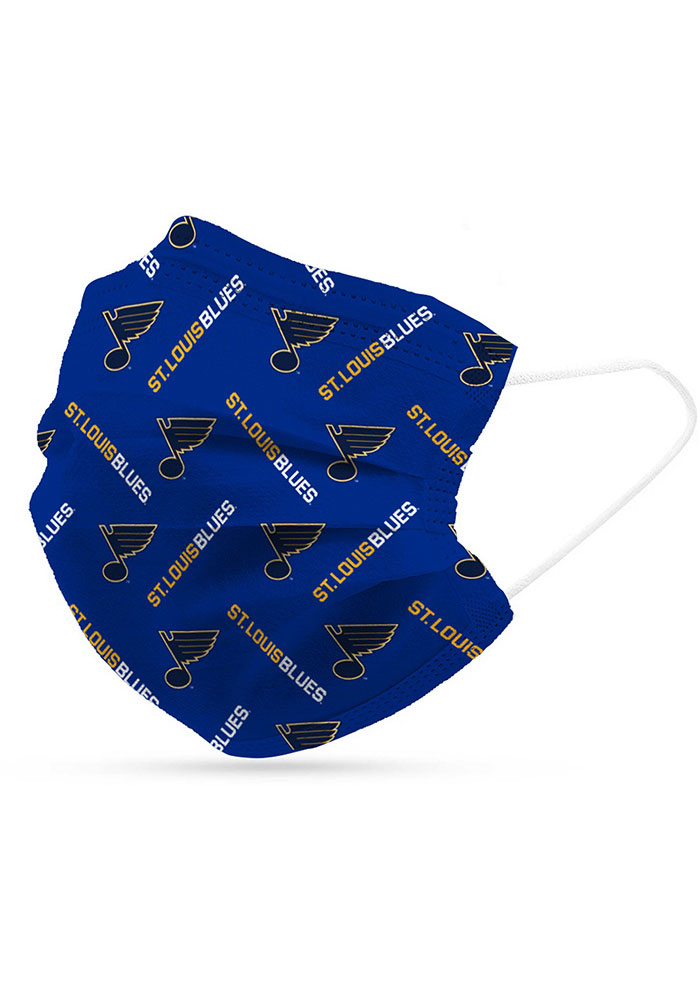 St Louis Blues 6 Pack Disposable Fan Mask - Blue