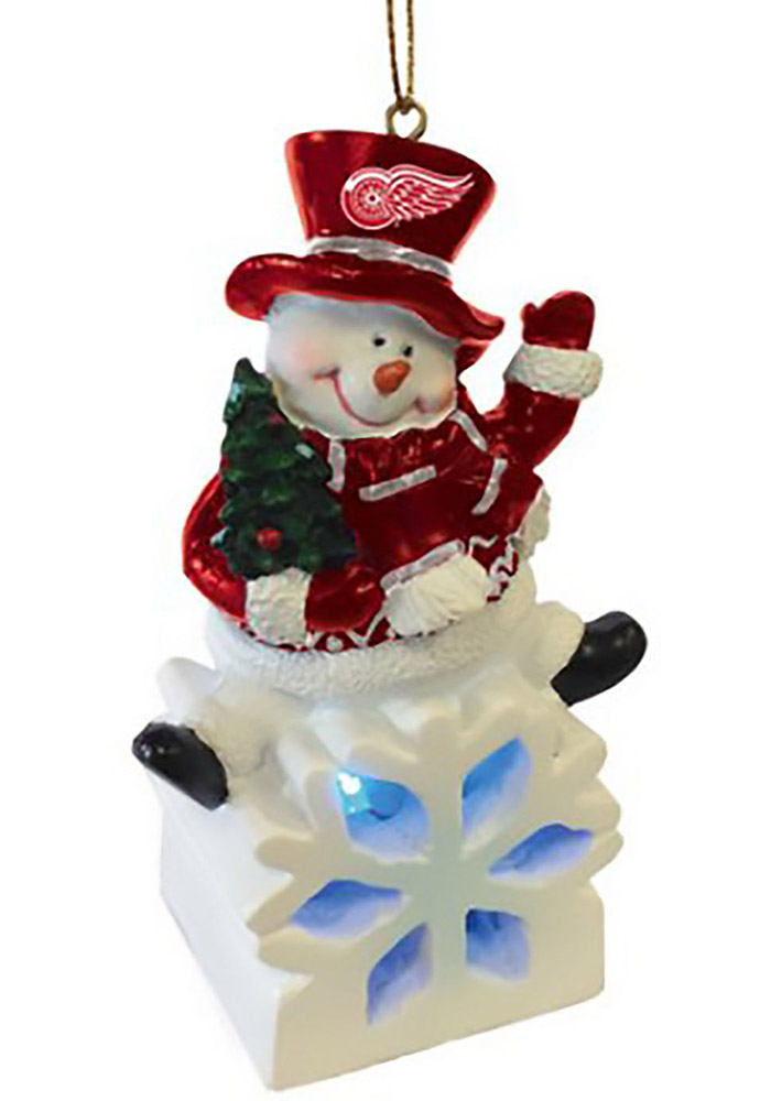 Detroit Red Wings Color-Changing LED Ornament - Image 1