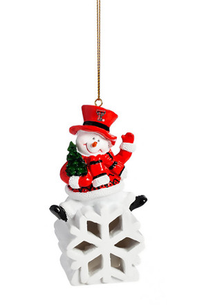 texas tech red raiders color changing led ornament - Texas Tech Christmas Decorations