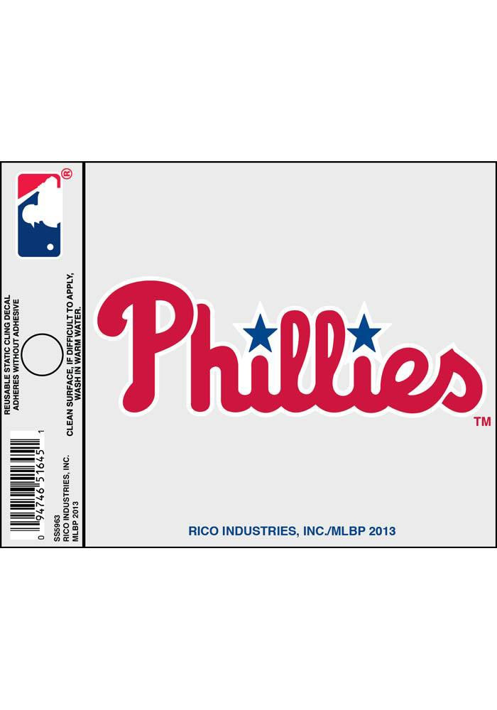 Philadelphia Phillies Small Auto Static Cling - Image 1
