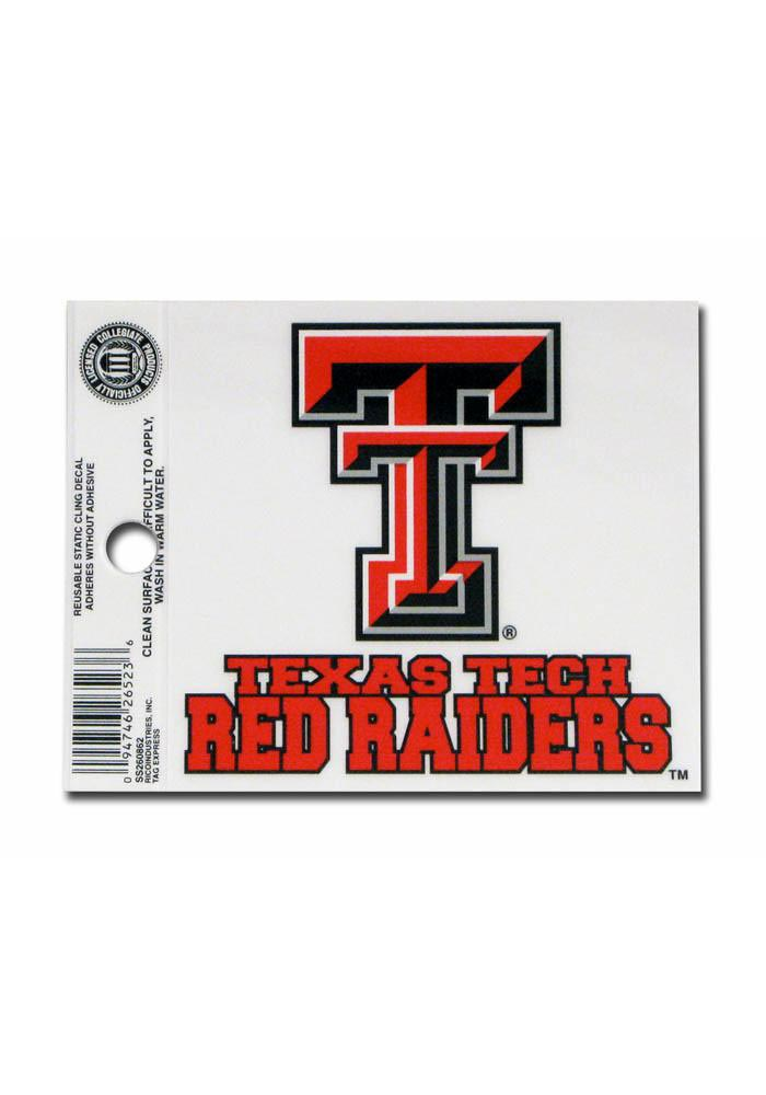 Texas Tech Red Raiders Small Auto Static Cling - Image 1
