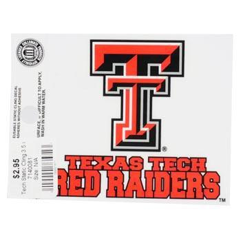 Texas Tech Red Raiders Small Auto Static Cling - Image 2
