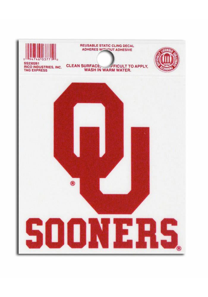 Oklahoma Sooners Small Auto Static Cling - Image 1