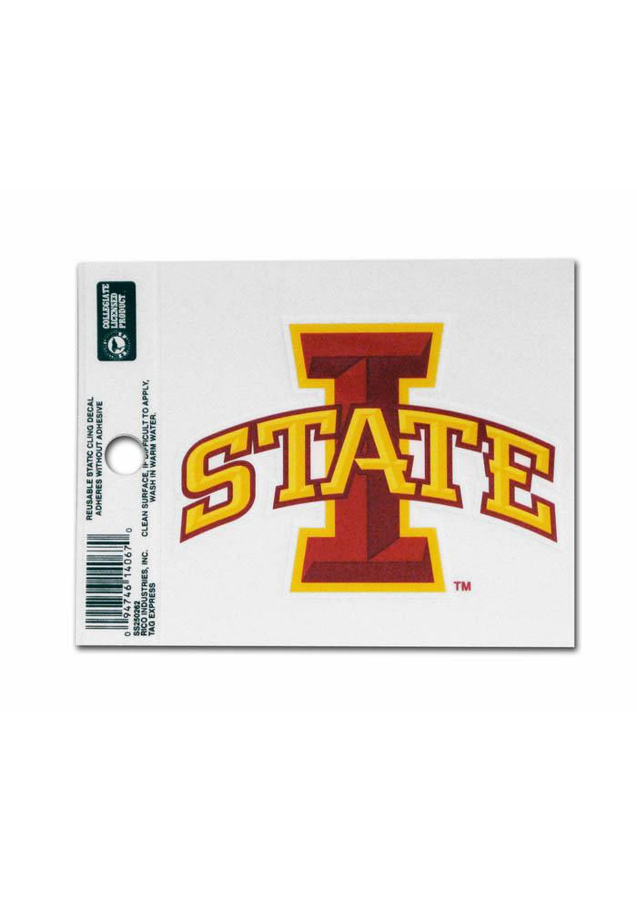 Iowa State Cyclones Small Auto Static Cling - Image 1