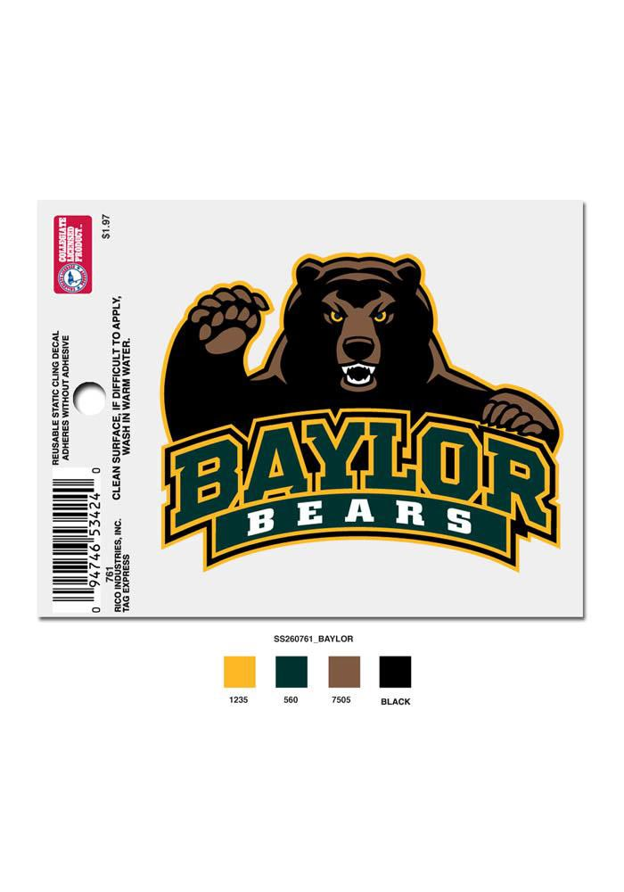 Baylor Bears Small Auto Static Cling - Image 1
