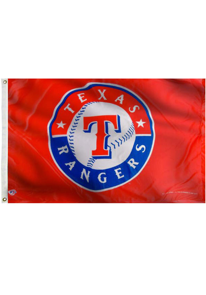 Texas Rangers 3x5 Red Grommet Red Silk Screen Grommet Flag - Image 3