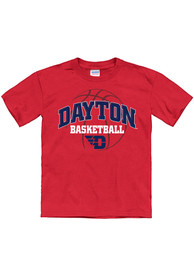 Dayton Flyers Youth Bevel Arch Basketball T-Shirt - Red