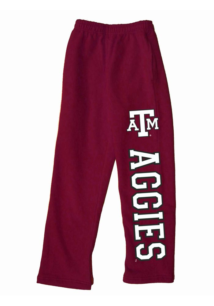 Texas A&M Aggies Baby Maroon Logo Bottoms Sweatpants - Image 1