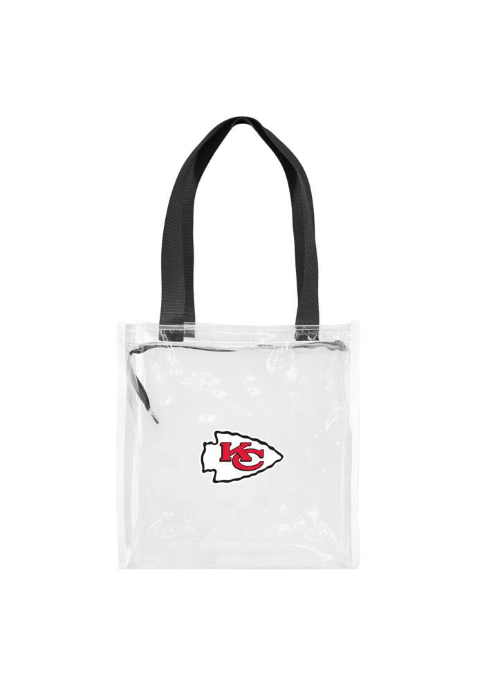 Kansas City Chiefs White Stadium Approved 12x12x6 Tote Clear Bag - Image 1