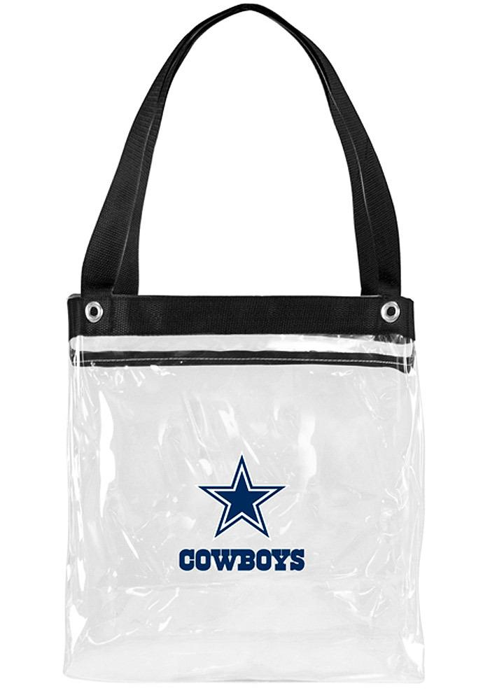 Dallas Cowboys White Stadium Approved 12x12x6 Tote Clear Bag - Image 2