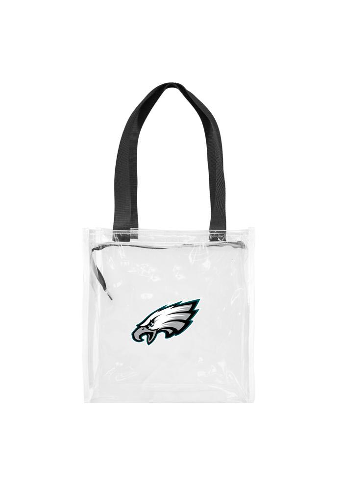 Philadelphia Eagles White Stadium Approved 12x12x6 Tote Clear Bag - Image 1