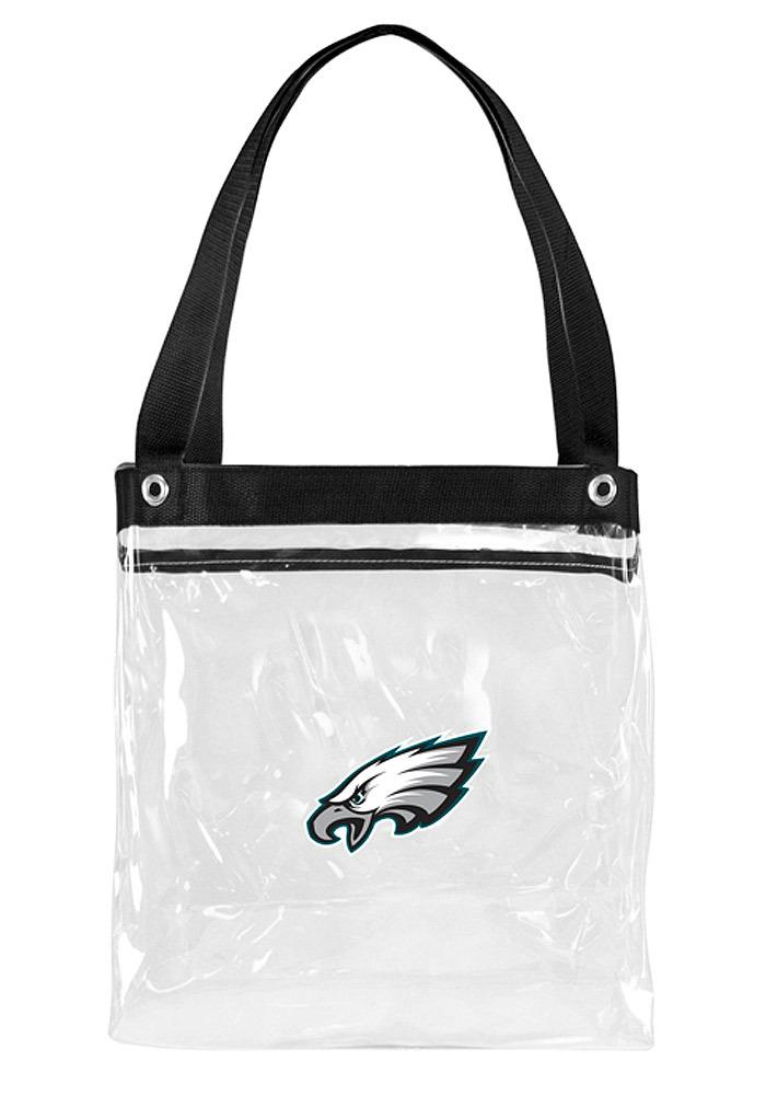 Philadelphia Eagles White Stadium Approved 12x12x6 Tote Clear Bag - Image 2
