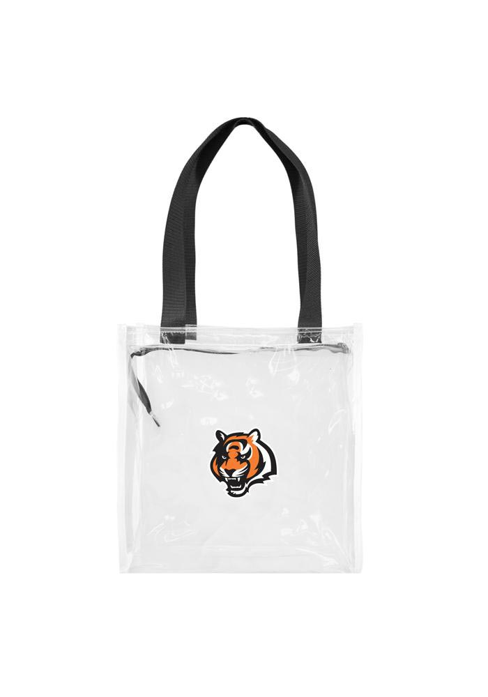 Cincinnati Bengals White Stadium Approved 12 x 12 x 6 Clear Bag - Image 1